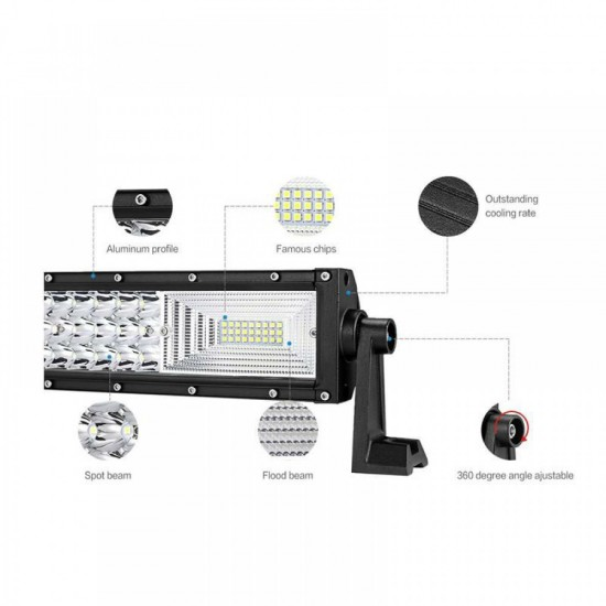 Proiector LED Bar, Off Road, 3 randuri leduri, 270W, 50cm